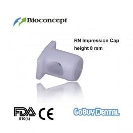 RN Impression Cap, height 8.0mm